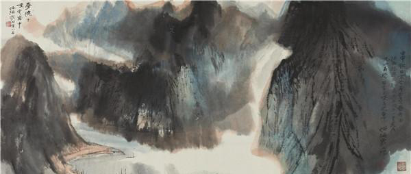 梦绕三峡1992年  55×112cm